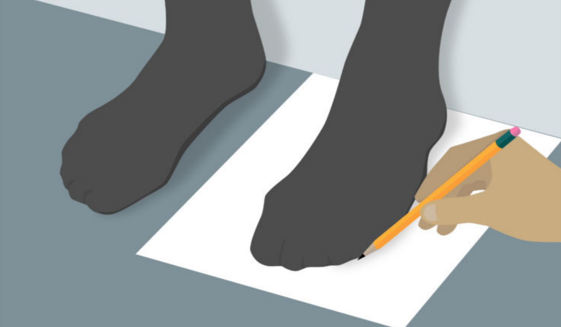 Get your foot outline