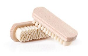 A suede brush