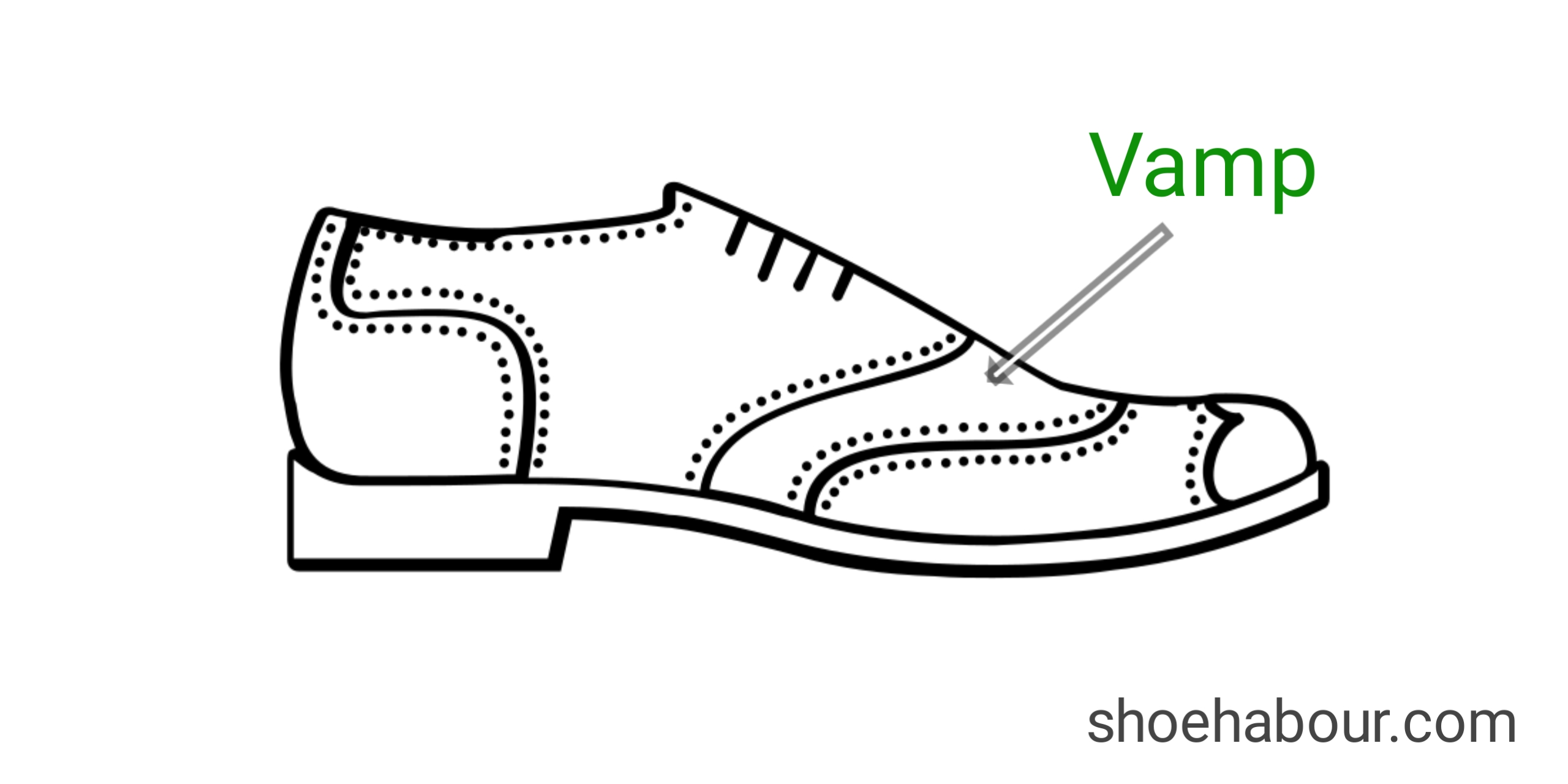 Vamp of a shoe