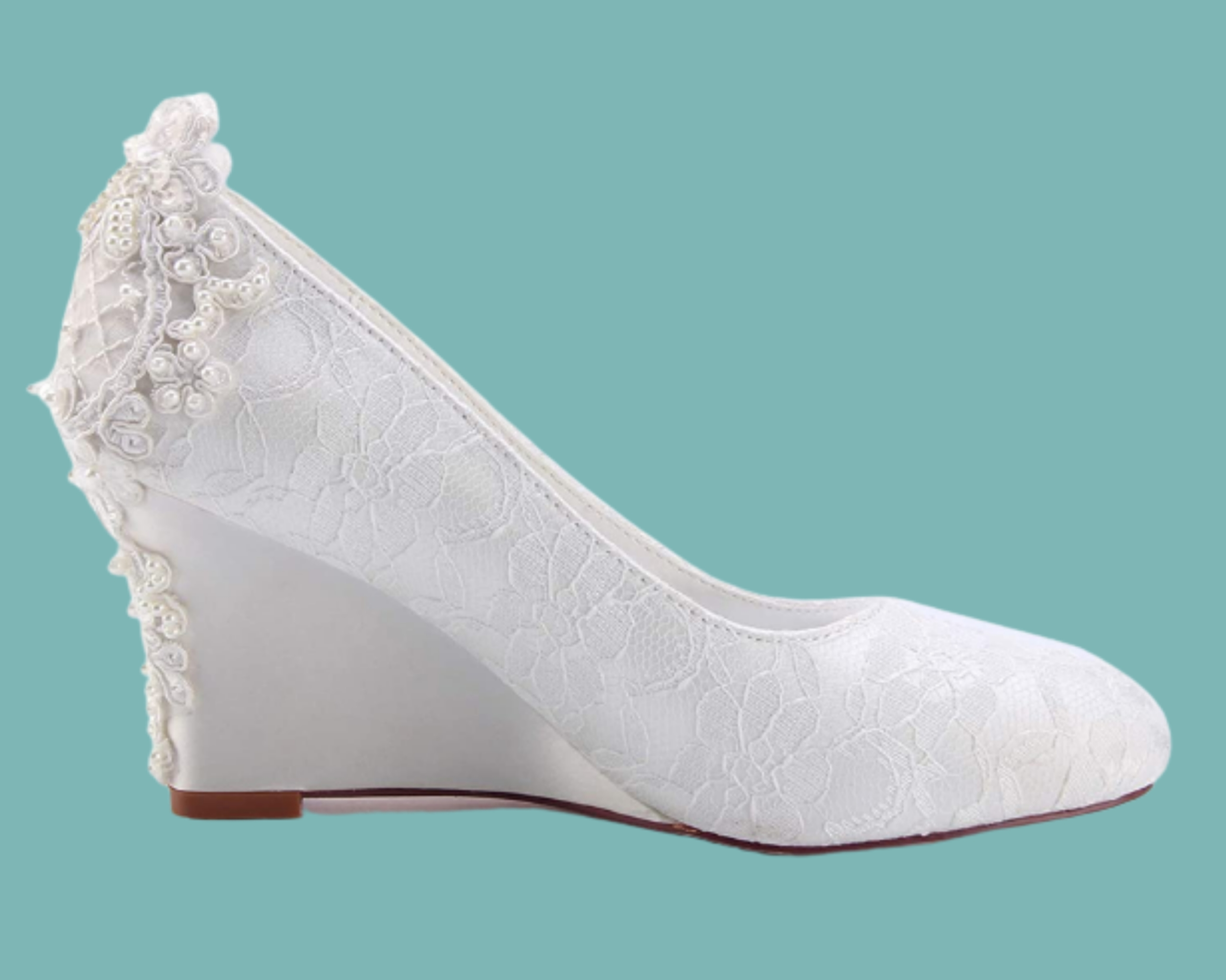 Best Lace Wedge shoe for brides