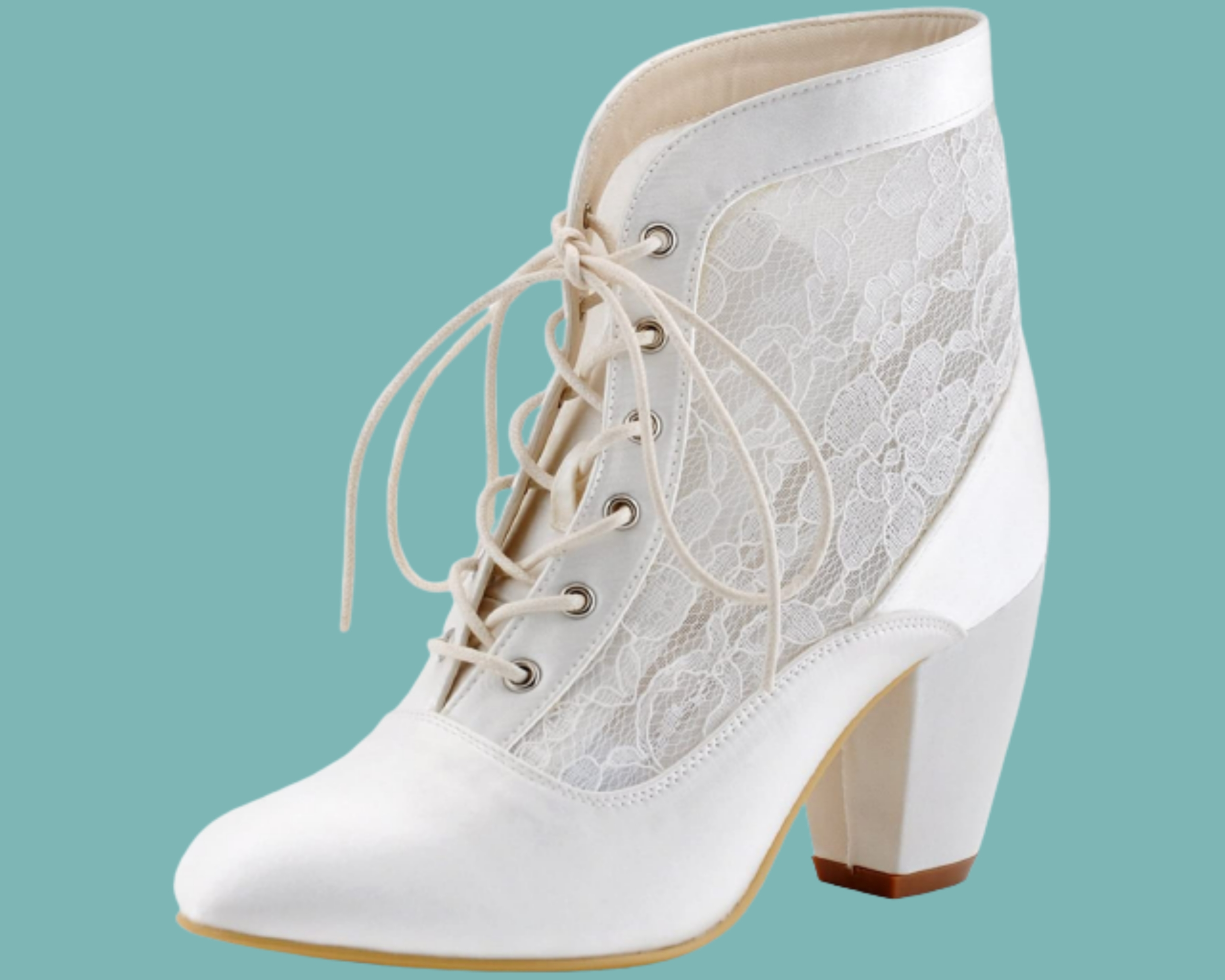 Lace boots for wedding