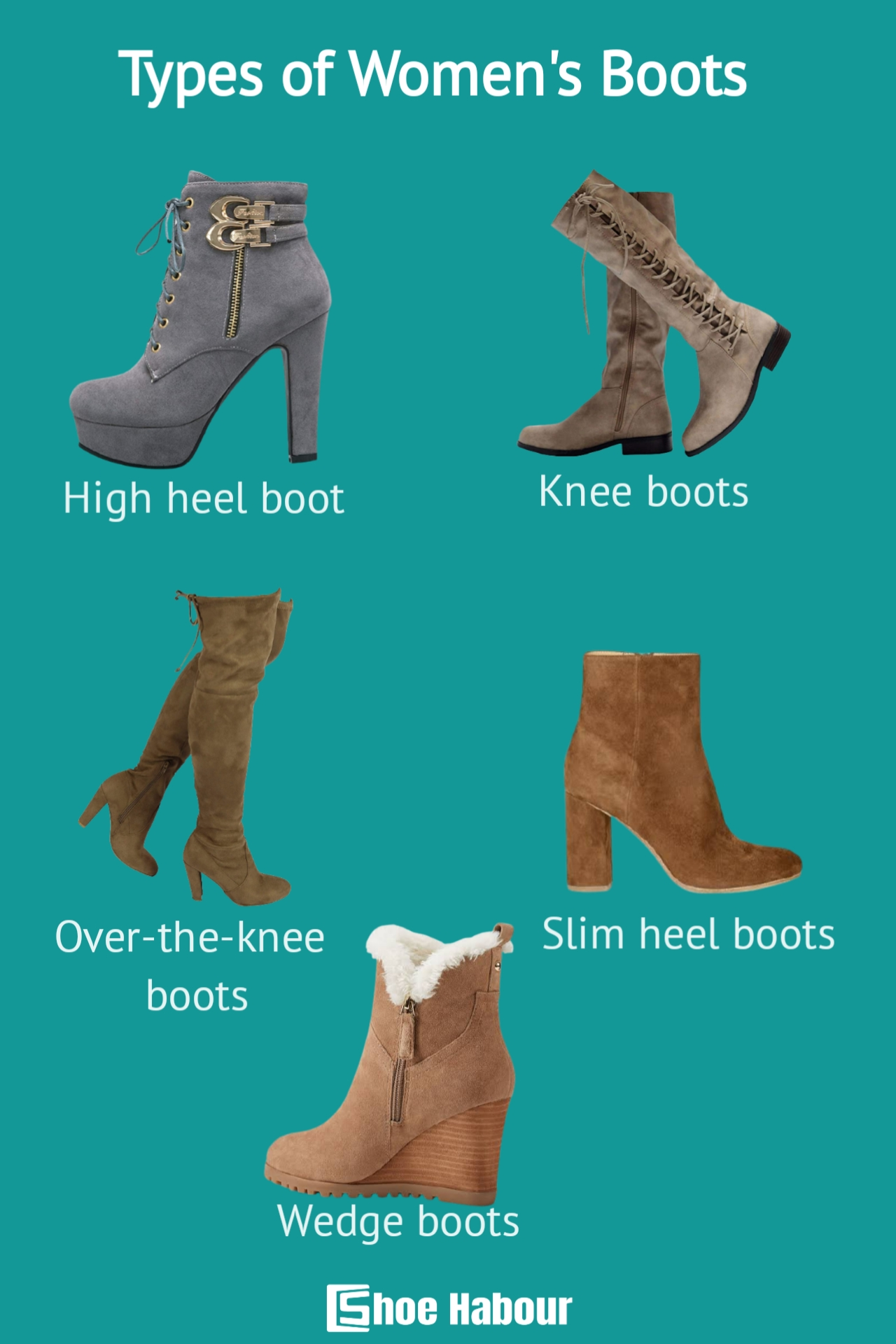 Types of women's boots