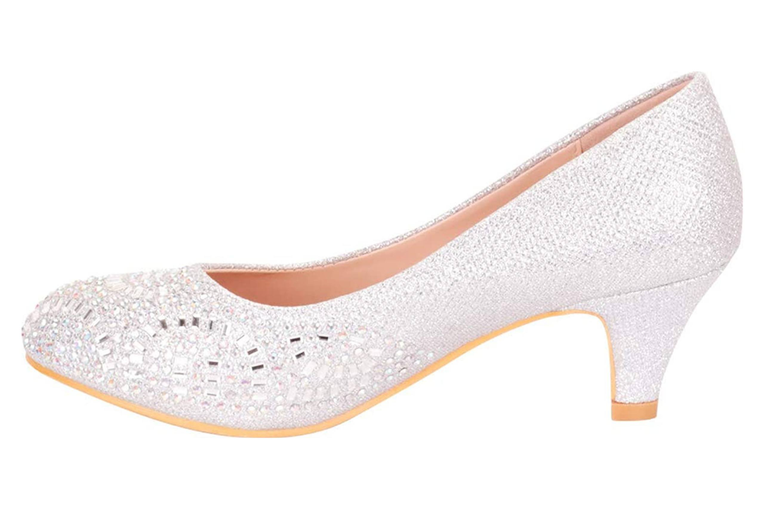 Best low heel bridal shoe with closed toe