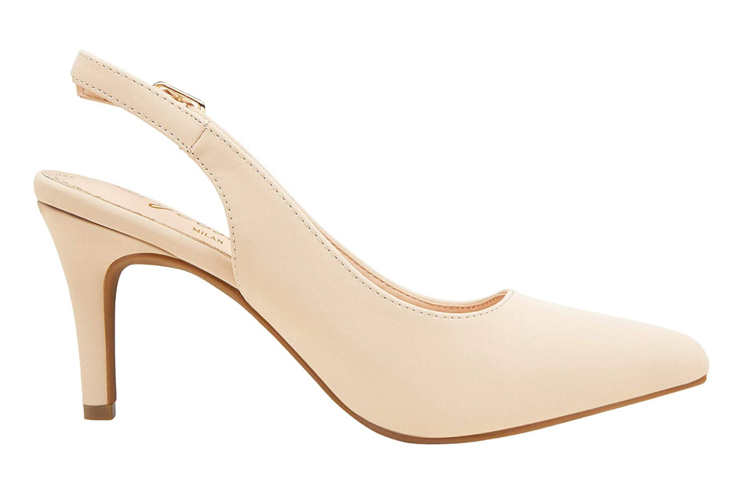 Beautiful low heel closed toe shoe for brides