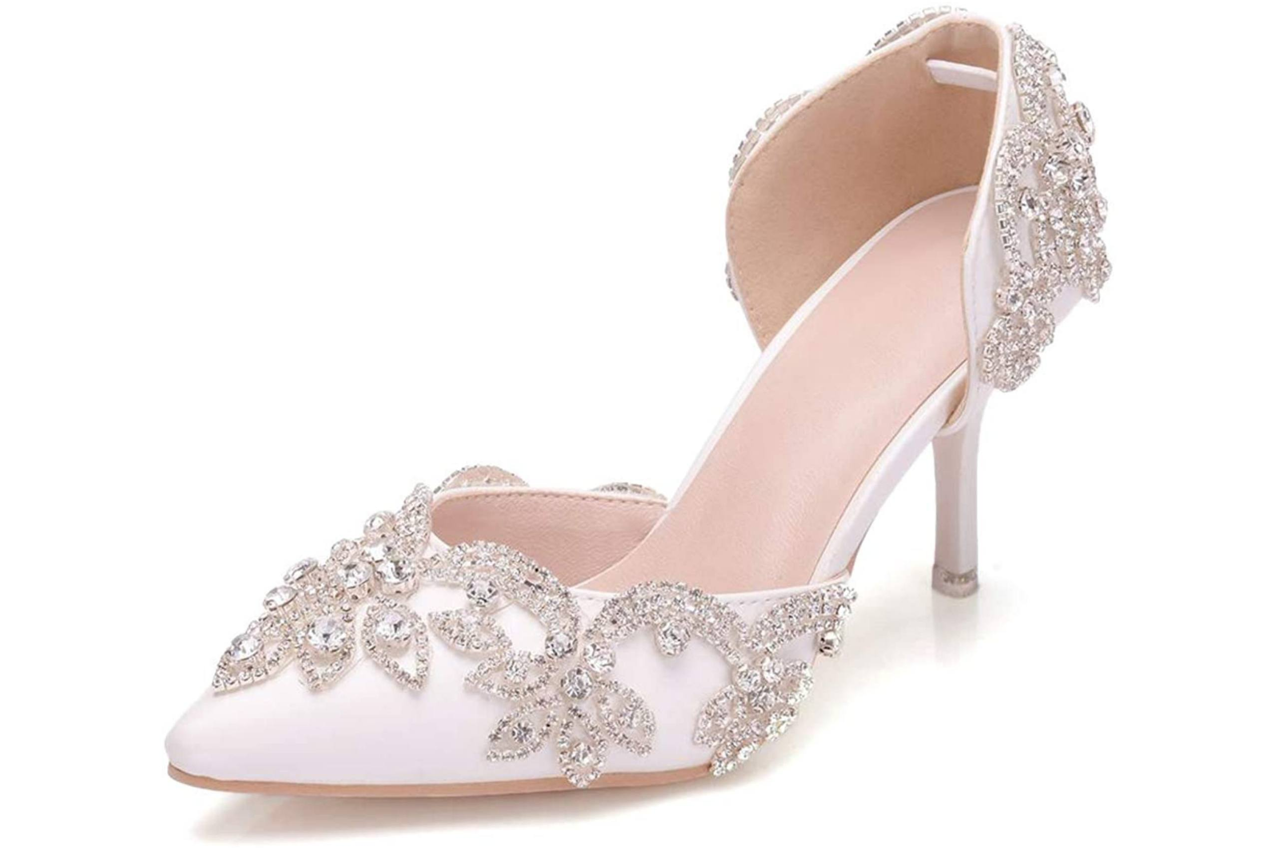 Best low heel closed toe shoe for brides