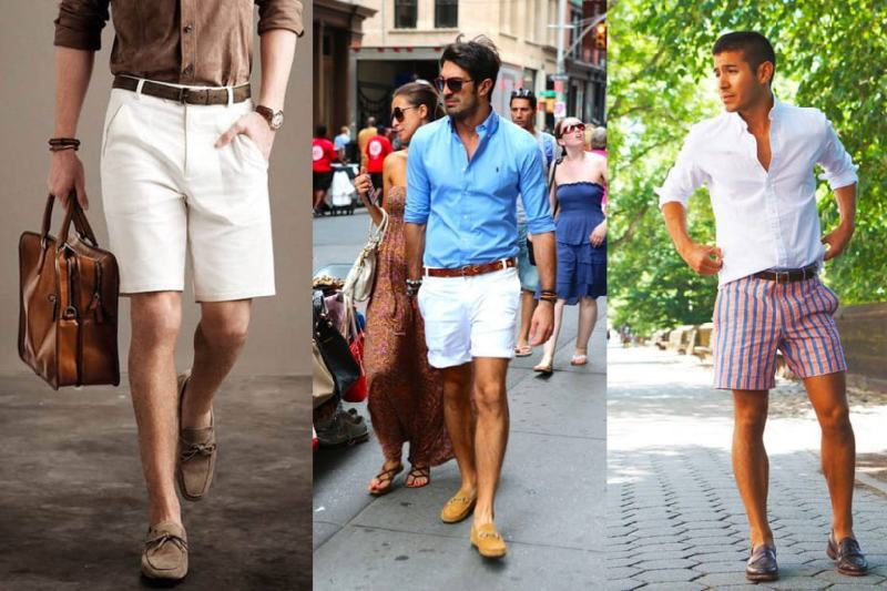 Wearing a loafer with shorts