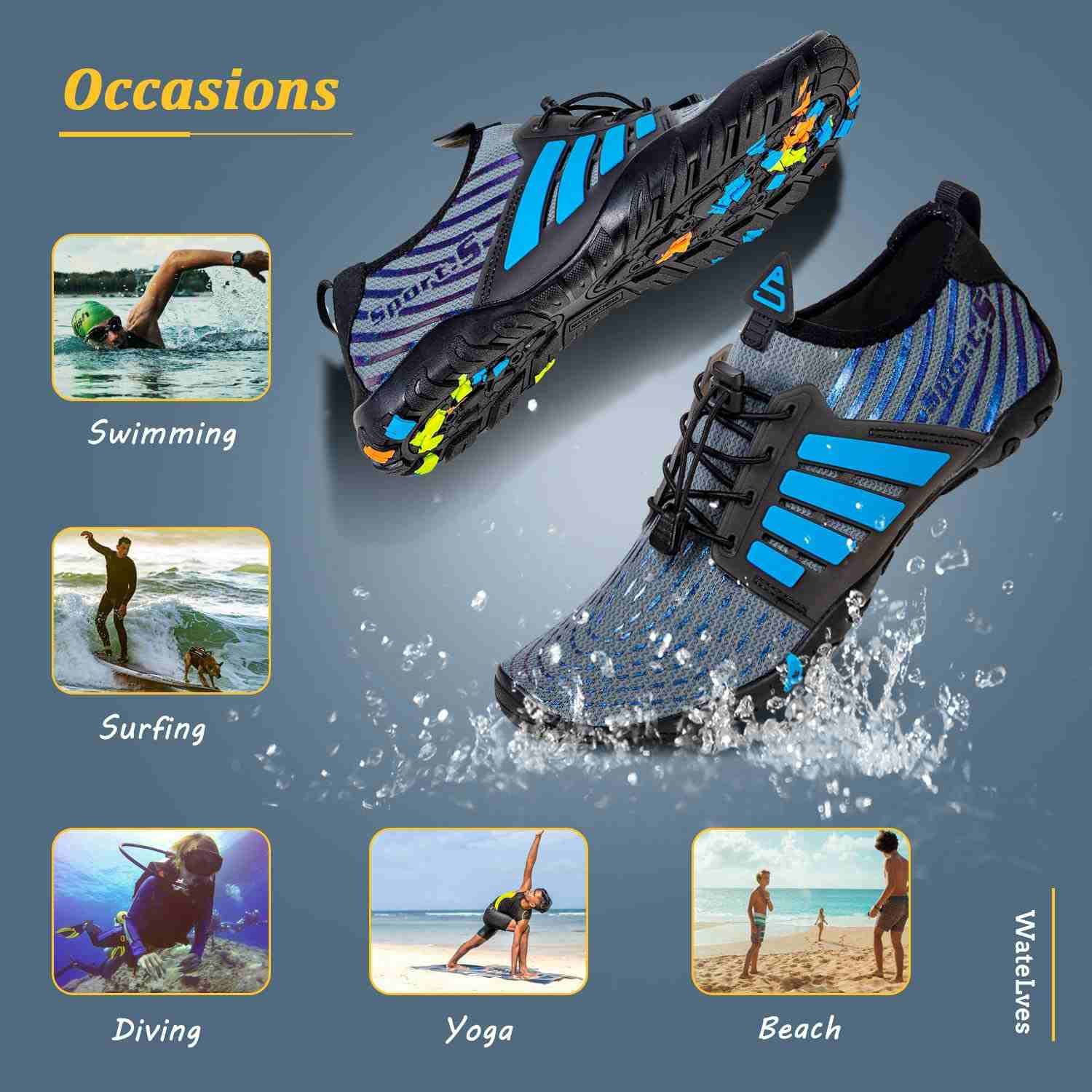 Activities to wear water shoes to